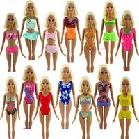 beach items - Items Sets Fashion Swimsuits Beach Bathing Swimwear Slippers Outfits For Barbie Doll xMas Gift Baby Toy