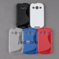Wholesale For Samsung Galaxy Xcover2 S7710 Soft TPU S Wave S line Case Cover Back Protector Dirt Resitant Cell phone cases