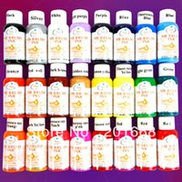 airbrush nails salon - 24pcs ML nail art airbrush paint ink creative colors Salon D Paint FULL Set for Nail Art Airbrushing NA443