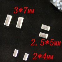 Wholesale 500pcs Crystal Color Faceted Small Rectangle Shape Crystal Glass Flatback Stones Nail Art Supplies D Nail Art Sticker