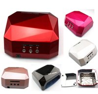 nail color machine - 6 Color W UV LED Gel Nail Lamp Gel Curing Tube Light Nail Art Polish Dryer Machine V V Retail Box