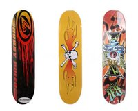Wholesale 1x Cheap Slide Skate Board Ply Maple Wood Skateboard four PVC wheels Aluminium Structure Carton Print Skateboard Hotsale
