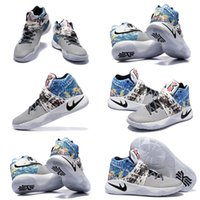 art sails - With Shoes Box High Quality Kyrie Effect Tie Dye Multicolor Black Sail Cav Men s Basketball Sport Kyrie Irving II Shoes