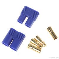 Wholesale EC3 EC3 Golden Plug Female Male Bullet Connector with Blue House for RC ESC LIPO Battery Motor AFD_618
