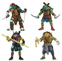 Wholesale New TMNT Teenage Mutant Ninja Turtles Movie Version Action Figure set Collection PVC Toys with weapons quot Top Quality by DHL
