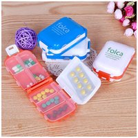 Wholesale Lowest price New Weekly Sort Folding Vitamin Medicine Pill Box Makeup Storage Case Container ZH065
