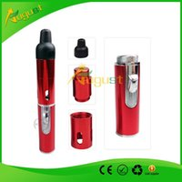 Wholesale Click N Vape sneak A vape smoking metal pipes Herbal portable Vaporizer for dry herb tobacco weed with built in Wind Proof cheap e cigs