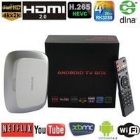 Wholesale Smart Android TV Box RK3288 Quad Core GB GB Mali T7 XBMC TV Receiver Airplay Miracast DLNA