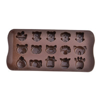animal shapes tray - Slot Animals Shaped Silicone Cake Biscuit Baking Mold Tray Ice Mold Bakeware Chocolate
