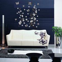 best black tree wall art - Romantic Design Best Promotion Butterfly Flowers Tree Wall Stickers Removable Home Decor Vinyl Art Mural Decals Decoration