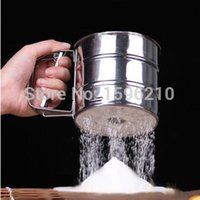baking powder cake - Hot sale Stainless steel sieve cup screen mesh powder flour sieve baking tools for cakes set cozinha cake decorating tools