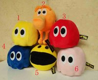 baby pixel - Cute New Movie Pixels plush toy with tag and lable Pac Man q bert Stuffed Animals doll cm Little ghost toys styles baby gift