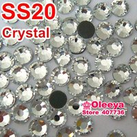 Wholesale Big Promotion A DMC Crystal Clear Hot Fix Rhinestone ss20 Hotfix Stones For Wedding Dress Y0005