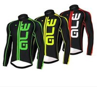 Wholesale 2016 ALE Pro cycling jersey long sleeves cycling Tops Bicycle clothing bike MTB Cycling Shirts Size XS XL