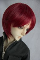 ae toys - quot quot Bjd doll wig sd dz as ae rd3 stubbiness msn Wine red small