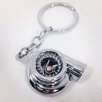 Wholesale New Chrome Turbo Charger Keychain Keyring Bearing Spinning Tuning Racing Turbine