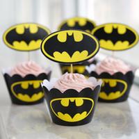 cupcake liners - Batman Halloween Type Bulk Muffin Cupcake Decoration Cupcake Liners Cases Wrappers