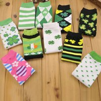 argyle knee highs - new Baby Toddler Infant Girls Boys Lucy Clover Leg Warmers Argyle Striped High Knee Warmer Socks Leggings Children Kids Arm Warmers ZJ L07