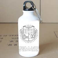 aluminum spoon - The new kpop BTS Bangtan Boys accompanying juvenile sports bottle cup best v bulletproof glass Aluminum seal cup ml Mugs COPO