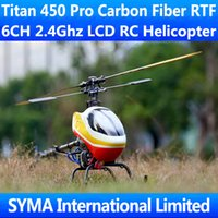 align rc - Titan Pro Carbon Fiber RTF CH Ghz Remote Control D Fly Align T rex Trex Single Screw Propeller Electric RC Helicopter