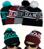 Wholesale Boy Girl Hip Hop Diamond Supply Co Beanie Wool Knit Cap Sphere Baseball Hat Fashion Sets