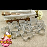 Wholesale Christmas Cookie Cutter Baking Tools Gingerbread Men Fondant Reposteria Confeitaria Biscuit Mold Kitchen Cake Decorating Tools