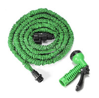 Wholesale High quality M FT watering kits Flexible Expandable Green Garden Hose Reels for Car WATER GARDEN Pipe with Sprayer order lt no tracking