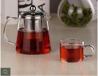 teapots - Genuine resistant glass teapot stainless steel filter liner flower pot ML small teapot kettle