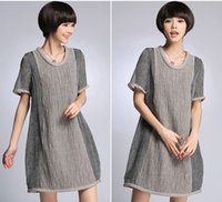 Wholesale 2015 New Plus size Soft Linen Summer Pregnant Clothes Maternity dresses Pregnant Dress for Women