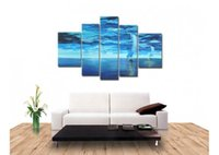 abstract sailboat paintings - handmade piece blue abstract wall art pictures oil paintings on canvas ocean sailboats unique gift for home decoration