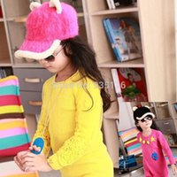 Wholesale 2014 New Warm Children Girls Winter Hat Caps Adjustable Baseball Kids Baseball Cap