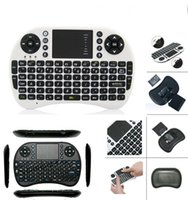 Wholesale Newest Portable mini keyboard Rii Mini i8 Wireless Keyboard with Touch pad for PC Pad Google Andriod TV Box with retail package