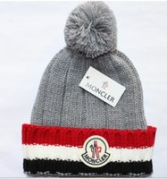 Wholesale color men women brand ball cap warm wool hat knitted hat