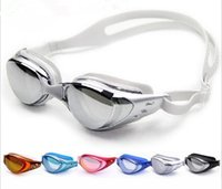 Wholesale Anti fog Anti ultraviolet swimming goggles men and women unisex coating swimming glasses adult goggles color