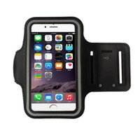 Wholesale 9 Colors Fashion Mobile Phone Armbands Gym Running Sport Arm Band Cover Protective Phone Bags For iphone Inch Top Quality
