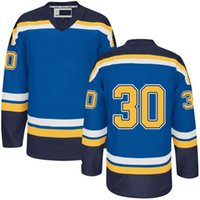 Wholesale Discount Mens Jerseys Martin Brodeur Blue Ice Hockey Jersey Embroidery Names Logos Accept Mixed Orders