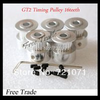 Wholesale 5pcs GT2 Timing Pulley teeth teeth Alumium Bore mm fit for GT2 belt Width mm