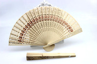 Hand Fans chinese fans - R H Women fans Chinese sandalwood hand fans Fancy wedding favors and gifts Handmade Ivory color inches Drop shipping Hot sale
