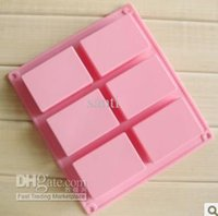 silicone soap molds - 8 cm square Silicone Baking Mold Cake Pan Molds Handmade Biscuit Mold Soap mold mould