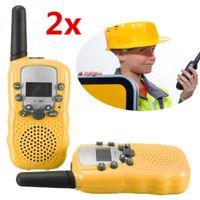 Wholesale T Pair Dual Yellow Portable Mini LCD Adjustable KM Multi Channels Way UHF Car Auto Radio Wireless Travel Walkie Talkie A5