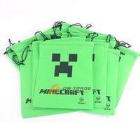 Wholesale Green Black New creative Minecraft Creeper JJ Blame backpacks Minecraft drawstring bags Minecraft Supplies handbag J102806