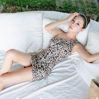 Wholesale Super Sexy Modern Womens Leopard Swimwear Pin Up Cutest Bikini Dress cover ups Thin shoulder tankini skirt Swimming suit