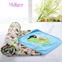 Wholesale Hot sale cotton baby blankets infants cartoon printing blanket newborn baby products sided towel blankets MDR0096