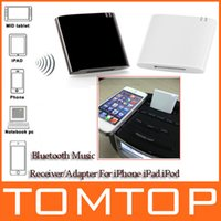Wholesale Wireless Stereo Bluetooth Music Receiver Adapter for iPhone iPad iPod Samsung pin Dock Speaker Boombox