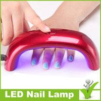 uv lamp - Mini LED Nail Lamp w pink red black white green pink Nail dryer Nail Curing Lamp with UK US AU EU Plug shipping free Nail lamp