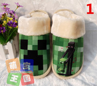 house slippers men - 4 styles Minecraft Cotton slippers Minecraft shoes Minecraft warm shoes winter House Slippers men and women plush Cotton slippers H0394a