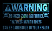 bad commercials - LZ036 TM Warning Mess with bikers Bad to health Neon Sign D Carving Crystal Light Box jpg