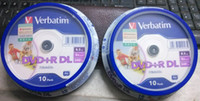 Wholesale freeshipping pack Verbatim balnk printable DVD R DL X Dual Layer Discs DVD R dl GB
