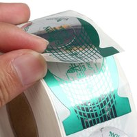 Wholesale 500PCS Nail Art Guide Form Acrylic UV Gel Tips Extension Sticke Decoration Tool
