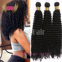 Cheap Malaysian Kinky Curly Virgin Hair 3pcs Bundle per Lot Emihair Products Brazilian Kinky Curly Hair Weave Human Hair Extension Free Shipping
